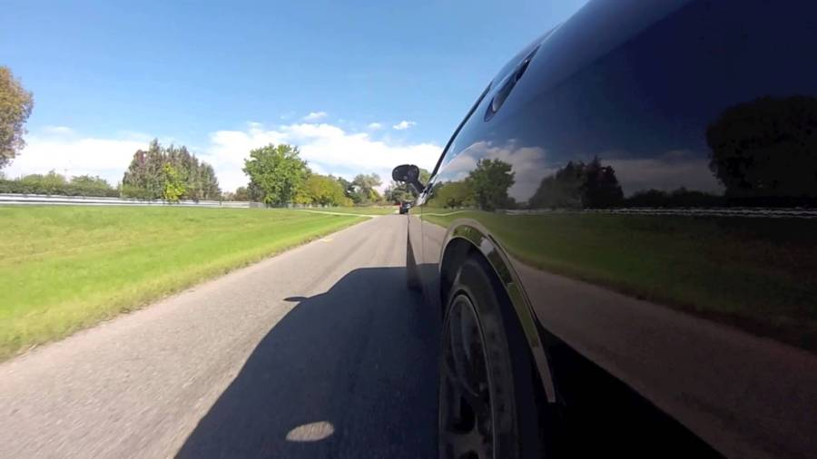 Video thumbnail for youtube video Hellcat Chasing Down a CTS V Estate — ZipRage